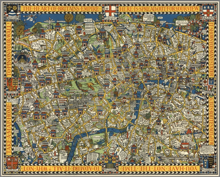 The Famous Wonderground Map of London Town.