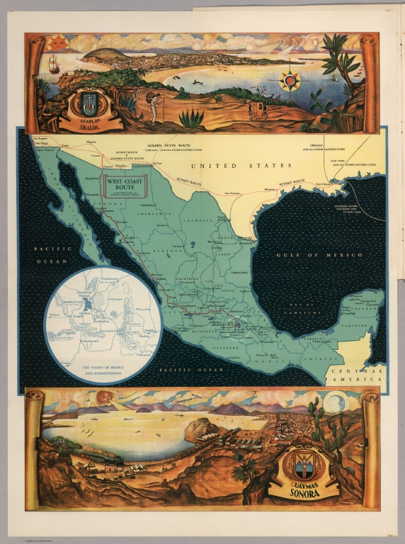 Mexico. Views: Azatlan, Sinaloa, and Guaymas, Sonora.